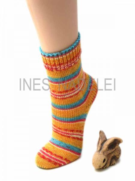 Socken Gr. 36/37 aus Austermann Step Summer Stripes Fb. 280