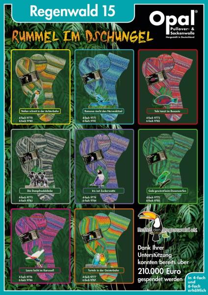 100g Sockenwolle Opal Regenwald 15