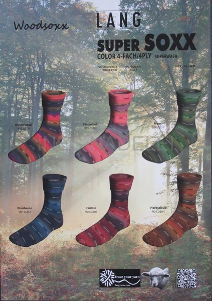 100g Sockenwolle Lang Yarns Woodsoxx