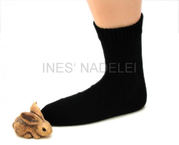 Socken aus Opal Uni tiefschwarz Fb. 2619