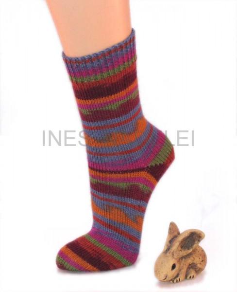 Socken Gr 39/40 aus Regia Design Line exotic Fb. 4455