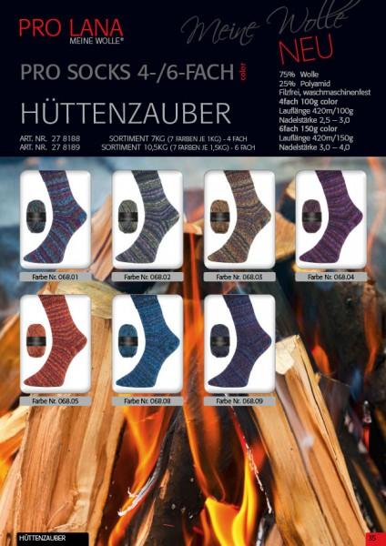 100g Sockenwolle Pro Lana Hüttenzauber