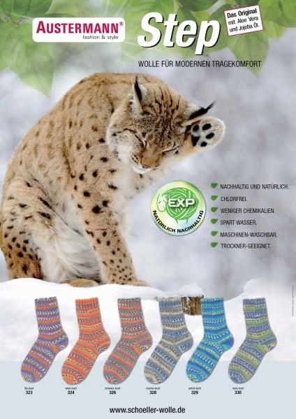 100g Sockenwolle Austermann Step Luchs