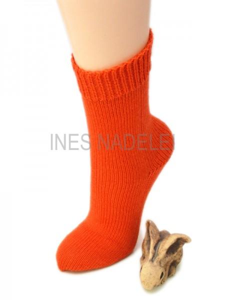 Socken aus Opal Uni orange Fb. 5181