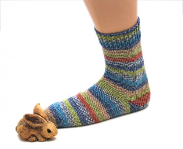 Socken Gr. 41/42 aus Lana Grossa Meilenweit Cotton Fantasy Fb. 802
