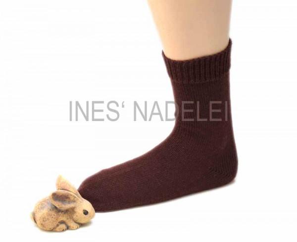 Socken aus Opal Uni dunkelbraun Fb. 5192
