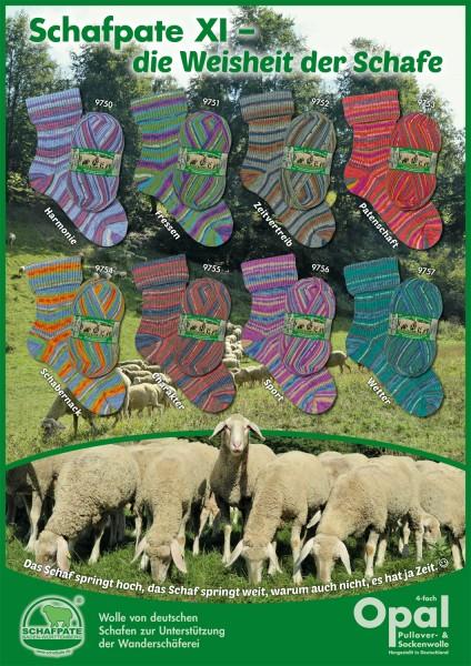 100g Sockenwolle Opal Schafpate XI