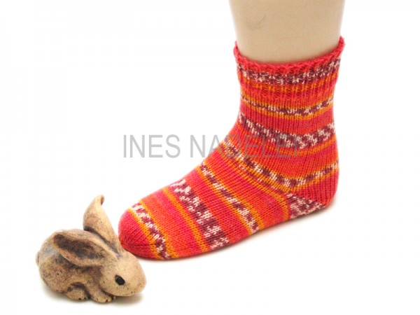 Kindersocken Gr. 28/29 aus Austermann Step Luchs Fb. 324