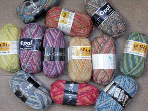 1000g Sockenwolle mit Cotton als Überraschungspaket
